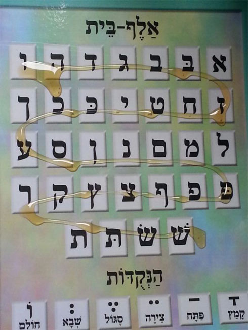 הדבש על האותיות (צילום:  עזרי טובי)