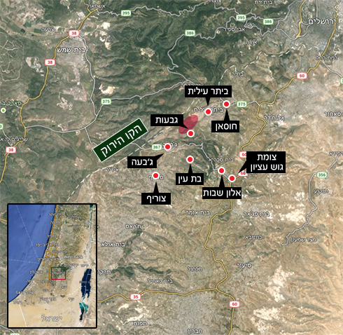 האזור שבמחלוקת (צילום: Google maps) (צילום: Google maps)