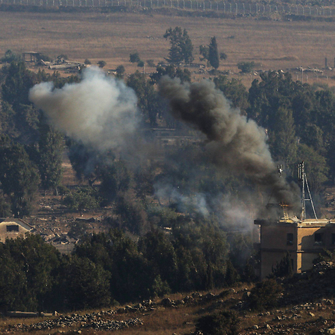 Fighting near the Israeli border. (Photo: EPA) (Photo: EPA)