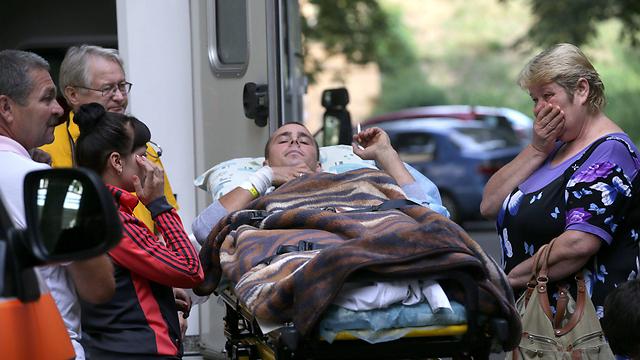 חייל אוקראיני פצוע בקייב (צילום: EPA) (צילום: EPA)