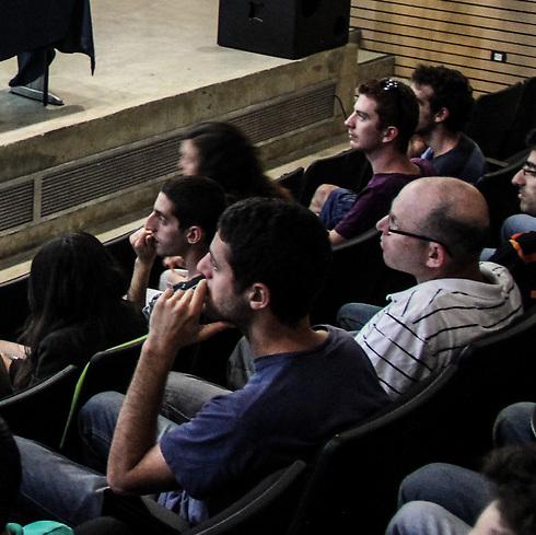 Students listen to Prof. Eytan Sheshinski