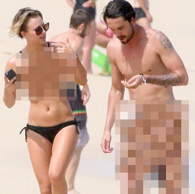 לא באמת עירומים. קיילי קווקו ובעלה (getty image)