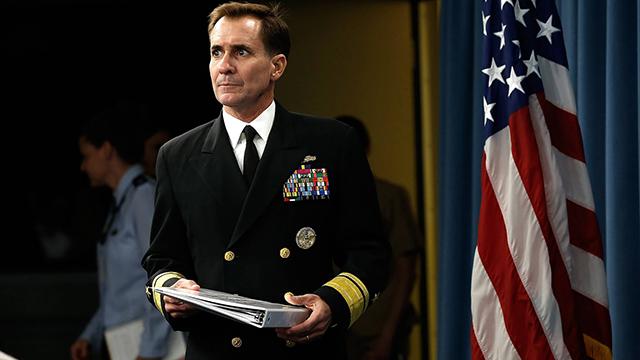 דובר הפנטגון, ג'ון קירבי, שהודיע על חיסול מנהיג א-שבאב (צילום: AFP) (צילום: AFP)