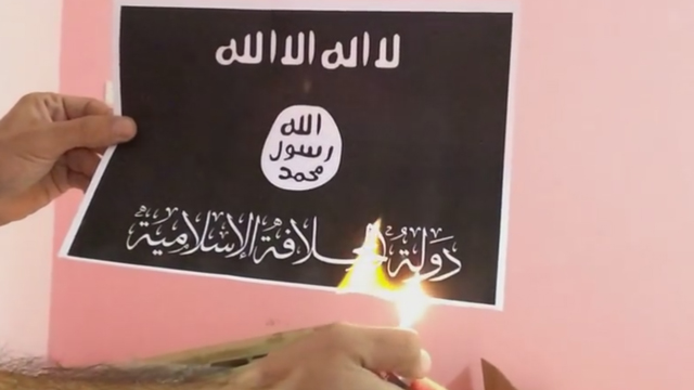 דגל דאעש. רוב הערבים הישראלים מתנגדים