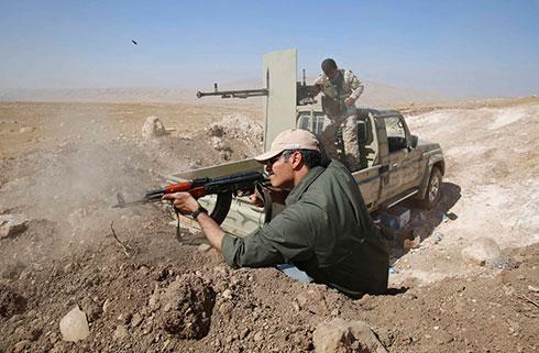 Kurdish fighters near Mosul, Iraq (Photo: Reuters)