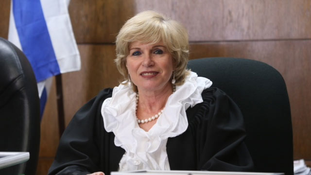 לקראת פרישה. השופטת אחיטוב בבית המשפט (צילום: מוטי קמחי) (צילום: מוטי קמחי)