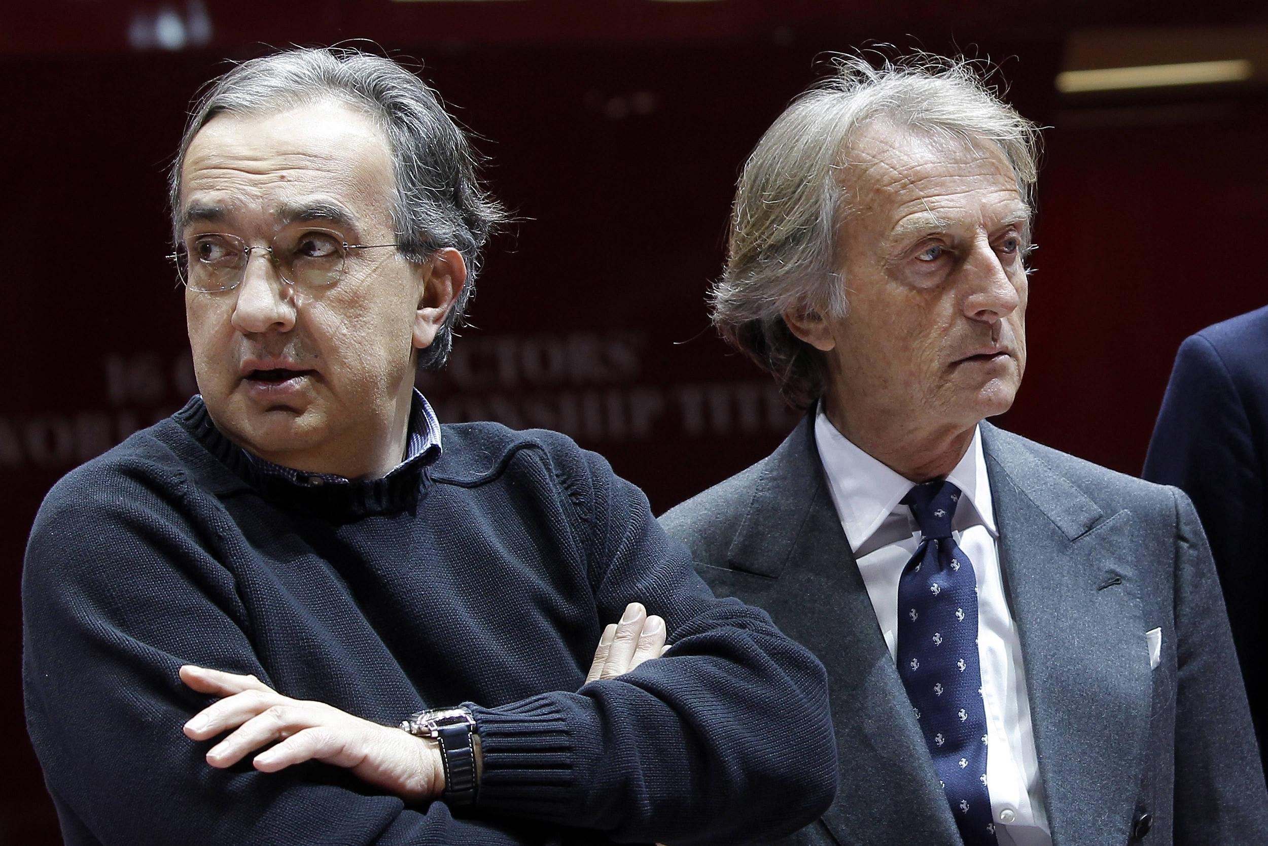 """מנכ""""ל פיאט, סרגיו מרקיונה (משמאל) (צילום: AP) (צילום: AP)"""