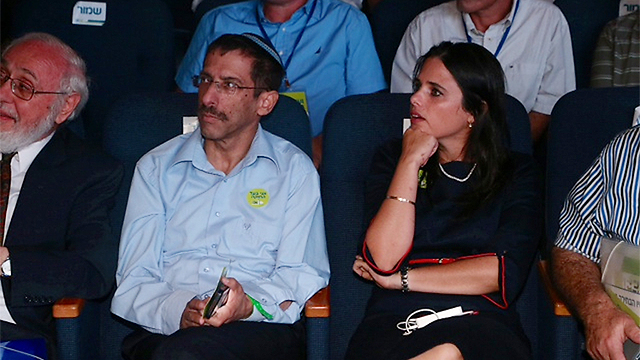 Uri Orbach with Ayelet Shaked at a Jewish Home event in 2014