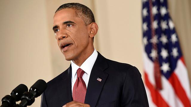 """אובמה בנאום: """"לא ניגרר לעוד מלחמה בעיראק"""" (צילום: רויטרס) (צילום: רויטרס)"""