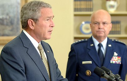 President Bush naming Hayden as CIA chief, 2006 (Photo: Getty Images)  (Photo: Getty Images)