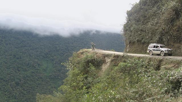 דרך המוות בבוליביה. קונסול הכבוד טיפל בנפגעים מישראל (צילום: אהוד פיילר) (צילום: אהוד פיילר)