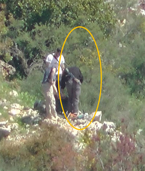 Hezbolla members patrolling border with Israel (Photo: IDF Spokesperson's Unit)