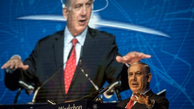 PM Netanyahu at cyber-defense conference (Photo: EPA)