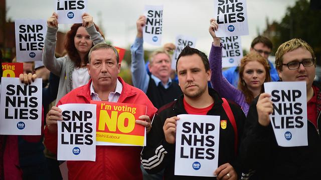 סקוטים שמתנגדים לניתוק מהממלכה הבריטית (צילום: Gettyimages)