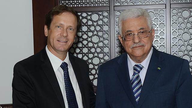 Herzog and Abbas in Ramallah