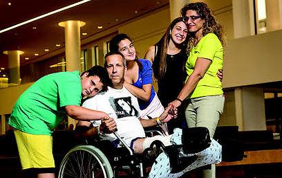 Gadi Yarkoni with his family.