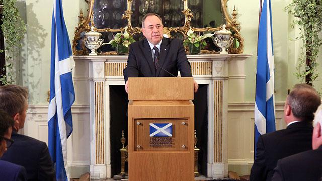 פינה את מקומו בעקבות ההפסד במשאל. סלמונד (צילום: AFP, הממשלה הסקוטית) (צילום: AFP, הממשלה הסקוטית)