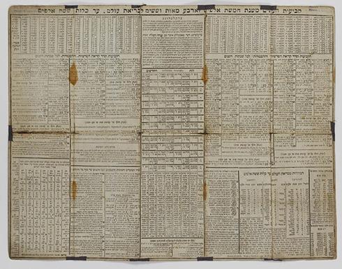 לוח ל-540 שנה, משנת 1700 (הדפסה שנייה ב-1816)  ()