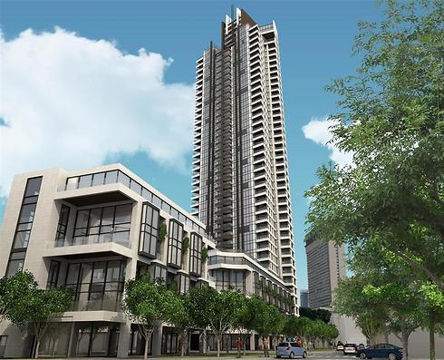 הדמיית פרויקט וויט סיטי. במקום 41 קומות - 38 קומות (הדמיה: ARTCO) (הדמיה: ARTCO)
