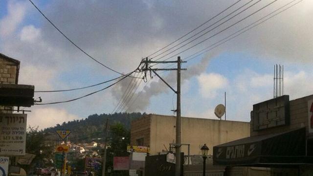 Smoke from scene of interception (Photo: Melech Gerstel)