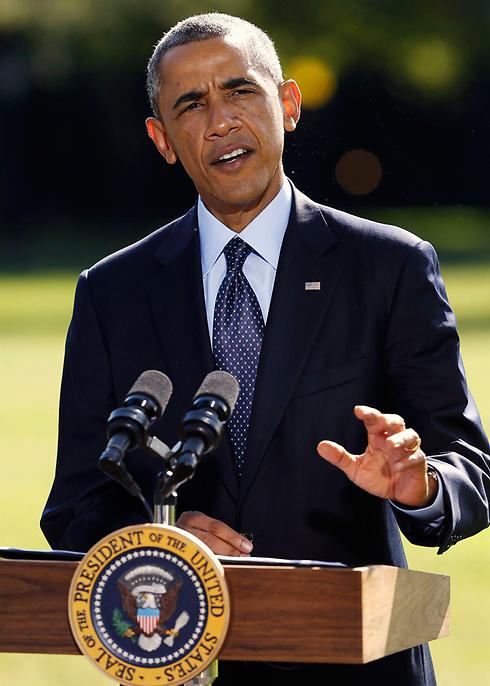 אובמה מזכיר לראשונה את שם הארגון, אתמול (צילום: רויטרס) (צילום: רויטרס)