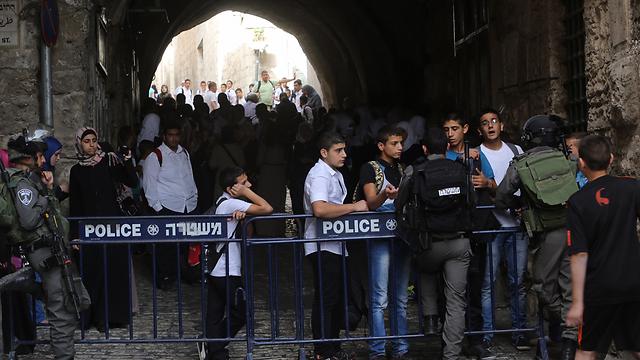 Increased police presence on Temple Mount (Photo: Gil Yohanan)