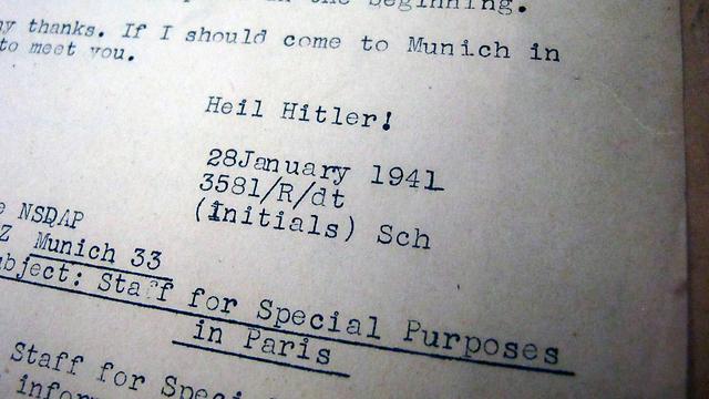 Translation of Nazi letter (Photo: AP)