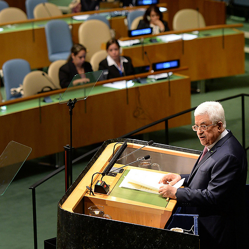 Abbas addressing the General Assembly Friday. (Photo: AFP) (Photo: AFP)