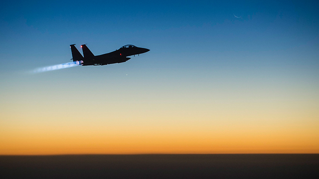 US Air Force F-15 after launching strikes in Syria (Photo: AP)