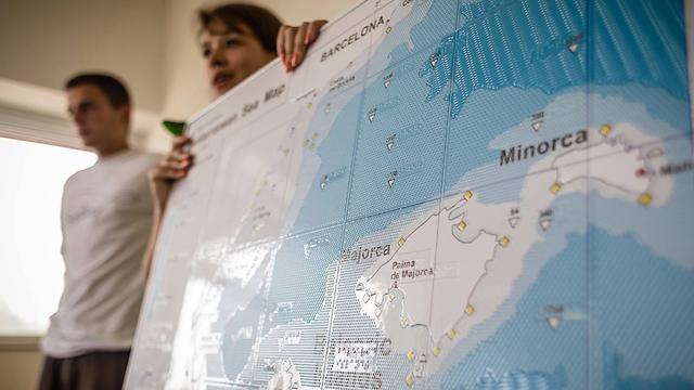 מפות בברייל (צילום: AFP) (צילום: AFP)