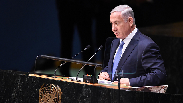 Netanyahu at the UN: 'Don't be fooled by Iran's manipulative charm offensive' (Photo: Shahar Azran)