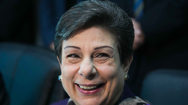 Senior PLO official Ashrawi said Palestinians were looking at past UN operations in various countries to see what form a protection effort might take (Photo: Ohad Zwigenberg)