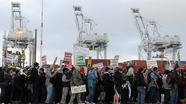Pro Palestinian protest at the Port of Oakland