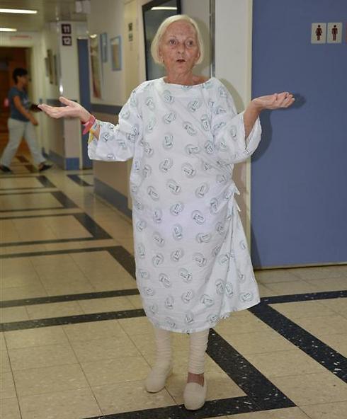 הולכת בכוחות עצמה. מרים אורן בבית החולים ברזילי (צילום: היחידה לצילום רפואי, בית חולים ברזילי)