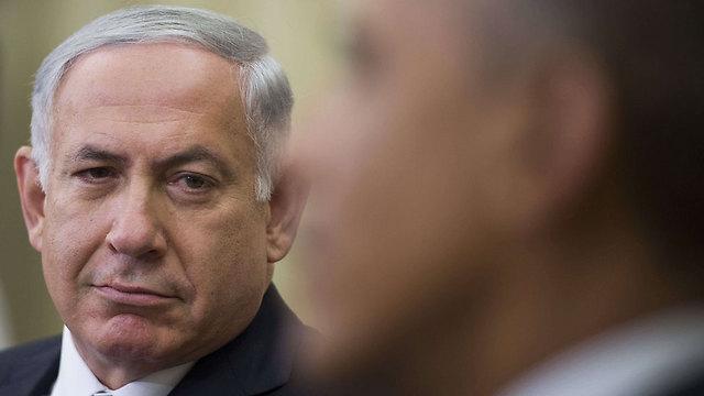 Netanyahu and Obama at White House (Photo: AFP)