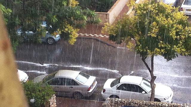 Rain in central Israel (Tomer Tako)