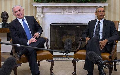 Body language: Netanyahu and Obama meeting Wednesday (Photo: AFP) (Photo: AFP)