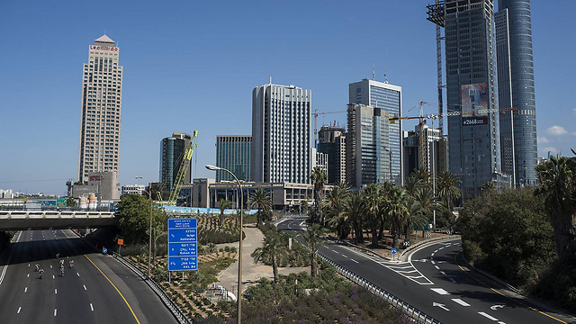 The carless Ayalon highway in Tel Aviv (Photo: Getty Images)