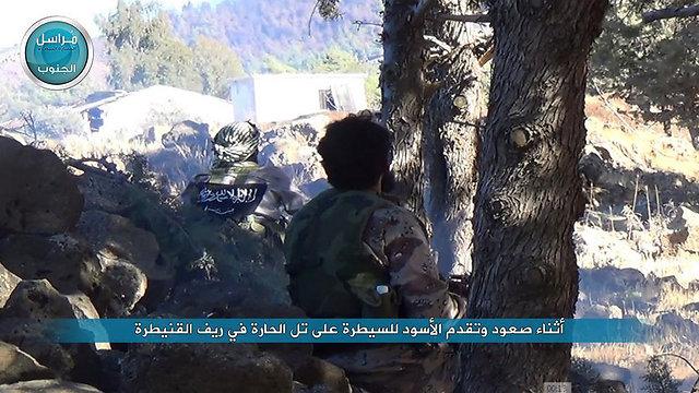 Jabhat a-Nusra militants in Quneitra (Photo taken from Twitter)