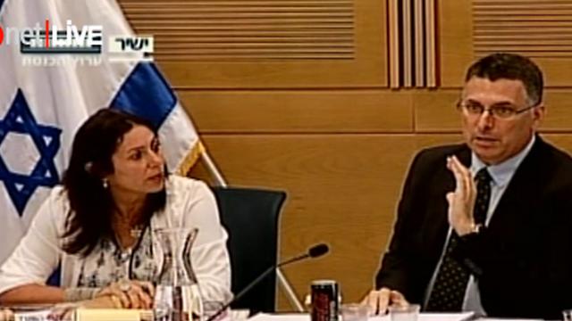 """מתנגדים לפסיקת בג""""ץ. השר סער וח""""כ רגב (צילום: ערוץ הכנסת) (צילום: ערוץ הכנסת)"""
