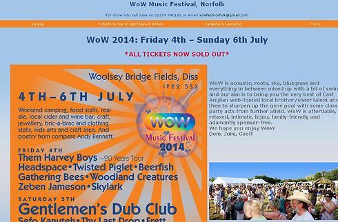 לא אנטישמיים, נגד טבח. פסטיבל WoW בנורפולק (צילום מסך מתוך אתר הפסטיבל) (צילום מסך מתוך אתר הפסטיבל)