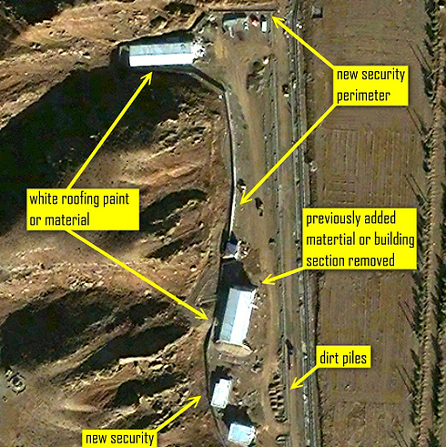 Satellite imagery of Parchin military facility from 2012 (Photo: ISIS website) (Photo: ISIS website)