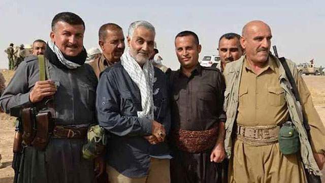 Soleimani with Kurdish forces fighting ISIS in Iraq