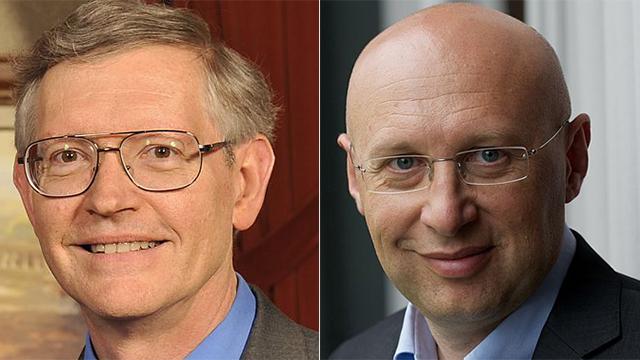 וויליאם מורנר (משמאל) וסטפן הל (מימין)  (צילום: Kevin Lowder,  Stefan W. Hell) (צילום: Kevin Lowder,  Stefan W. Hell)