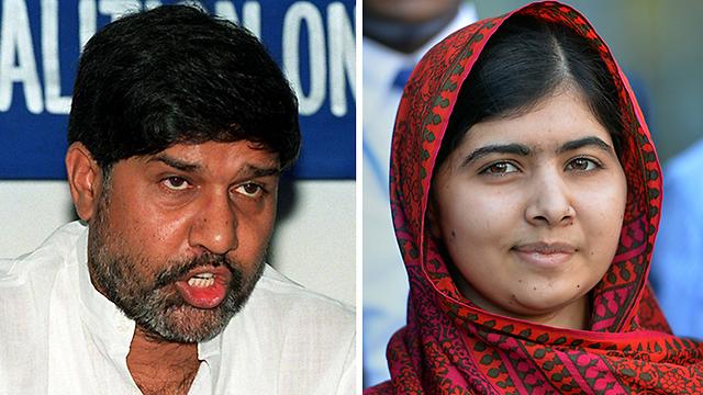 הזוכים בפרס נובל לשלום 2014 (צילום: AFP) (צילום: AFP)