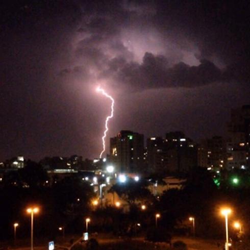 Dark skies burst with lightning and thunder (Photo: Keren Weigner) (Photo: Keren Wienger)