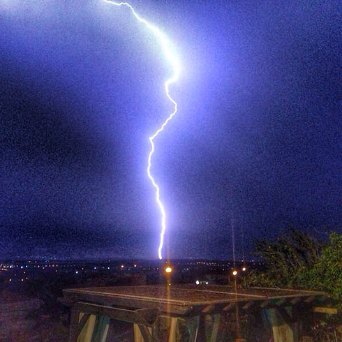 Lightning flashed in Kinneret as well (Photo: Yoni Nave) (Photo: Yoni Nave)