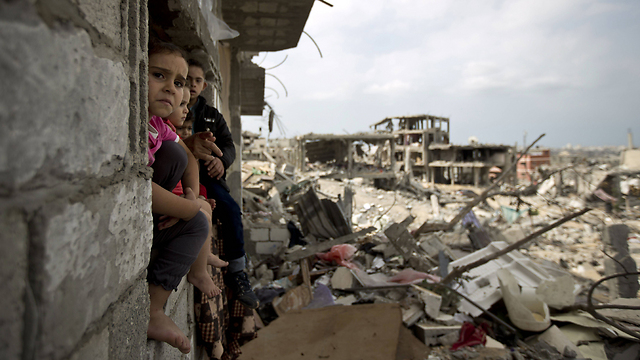 Palestinian children in Tuffah, Gaza City (Photo: AFP)