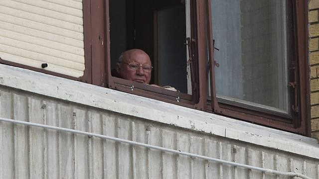 Nazi war criminjal Jakob Denzinger at his current home in Croatia (Photo: AP)
