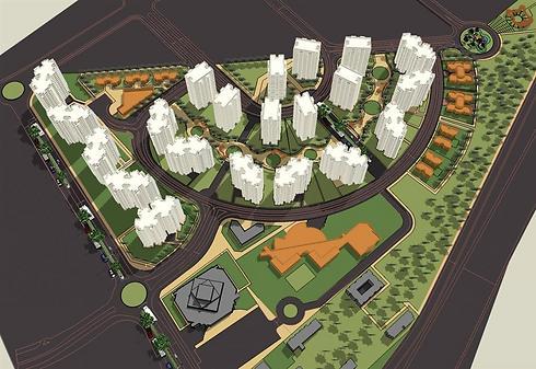 הדמיית השכונה החדשה. מ-1,800 דירות ל-2,050 (הדמיה: טיטו אדריכלים) (הדמיה: טיטו אדריכלים)